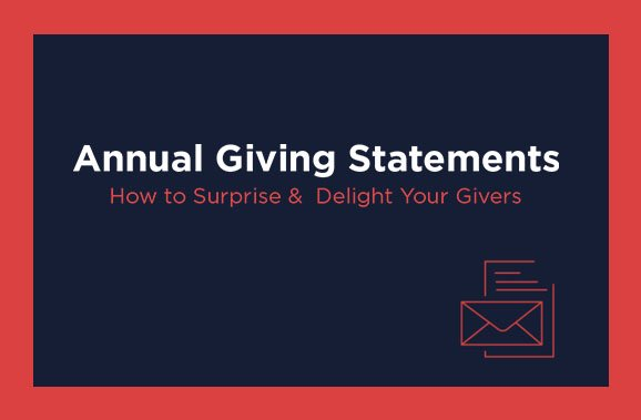 Church Annual Giving Statements Guide