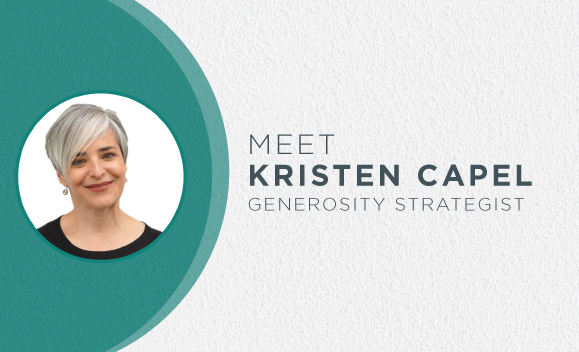 Meet Kristen Capel, Generosity Strategist