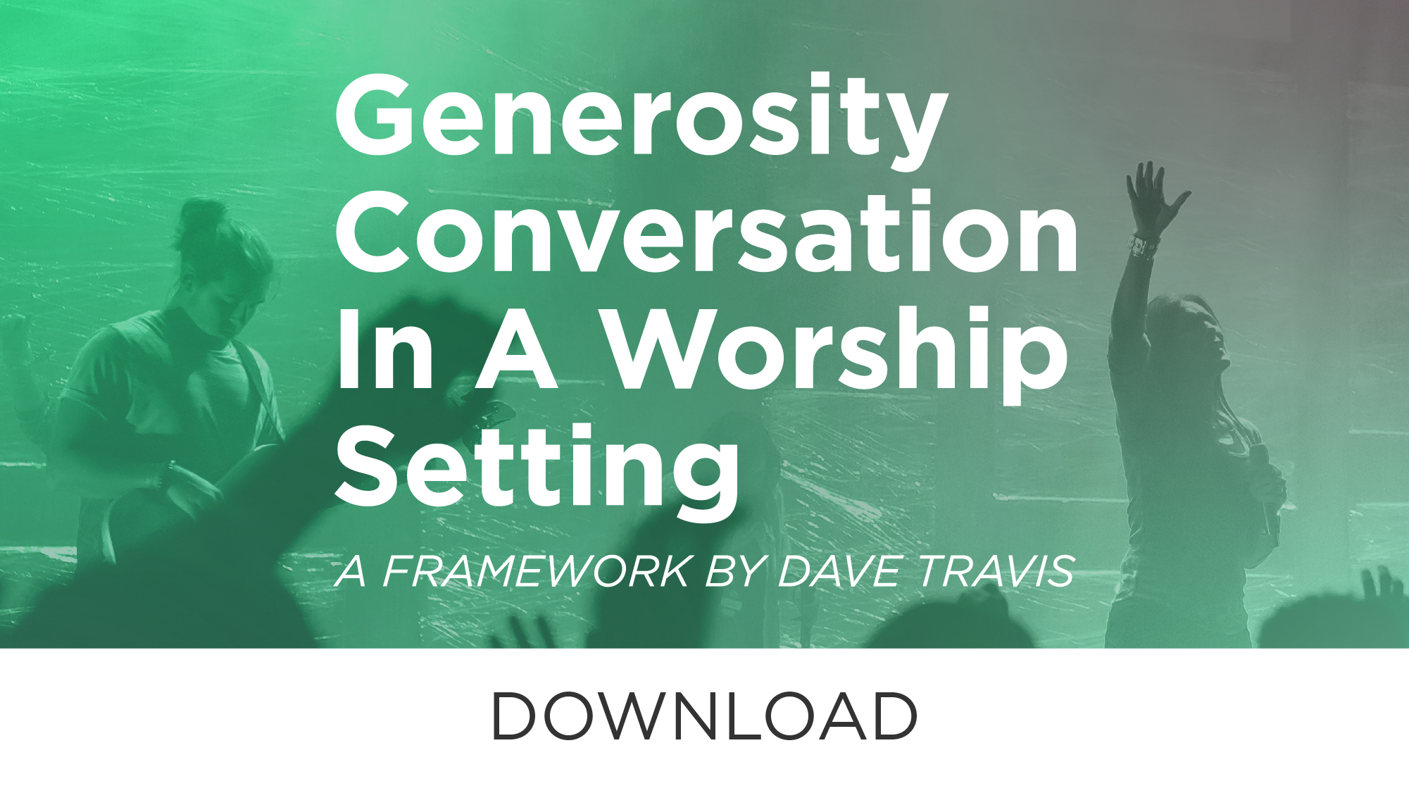 How much should you speak of generosity issues in a worship setting?