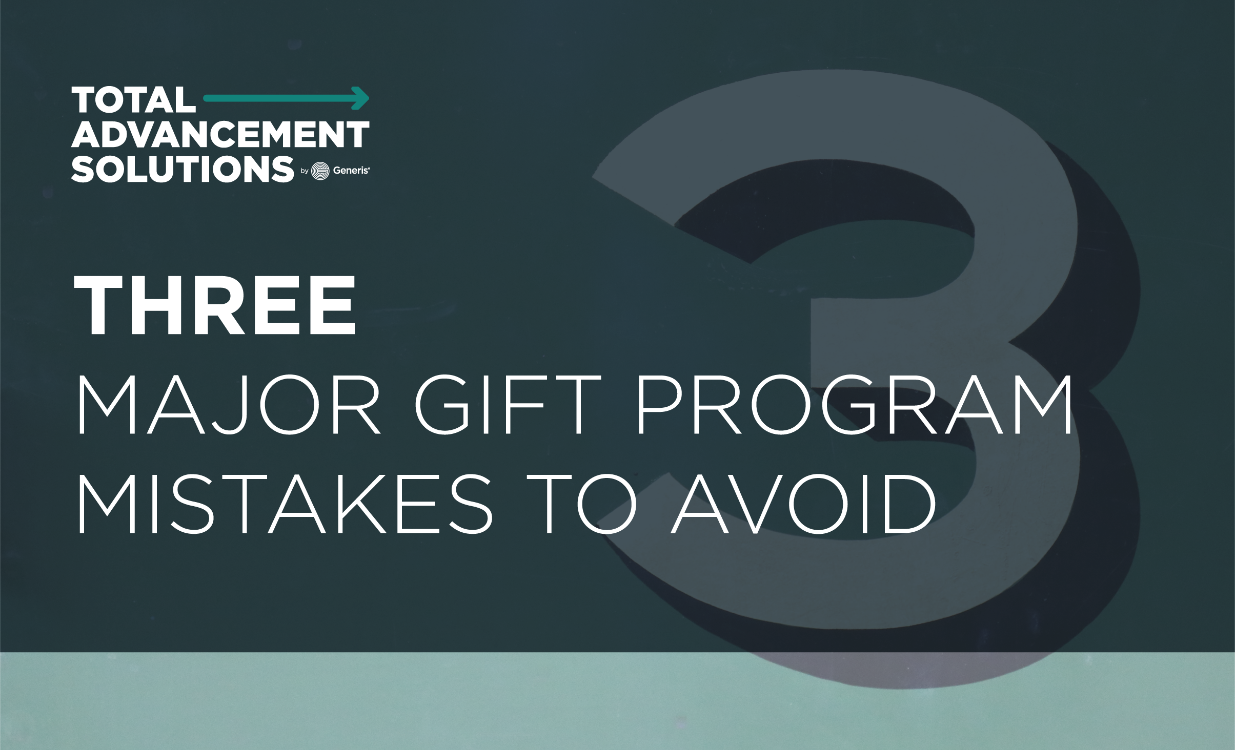 Three Major Gift Program Mistakes To Avoid